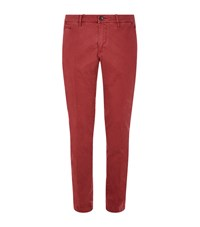Jacob Cohen Bobby Vintage Wash Chinos Male Red