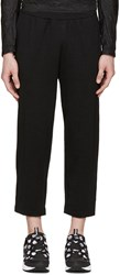 08Sircus Black Loopwheel Terry Trousers