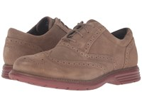 Rockport Total Motion Fusion Wing Tip New Vicuna Men's Lace Up Wing Tip Shoes Brown