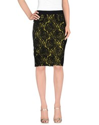 Darling Skirts Knee Length Skirts Women Acid Green
