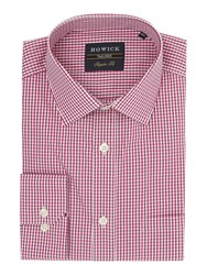 Howick Men's Tailored Albany Gingham Shirt Purple