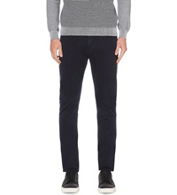 Reiss Slim Fit Tapered Cotton Chinos Navy
