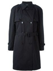 Dolce And Gabbana Vintage Belted Trench Coat Black