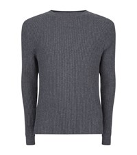Lot 78 Ribbed Knit Sweater Male Grey