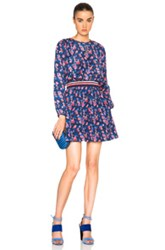 Tanya Taylor Anna Embroidered Dress In Blue Floral