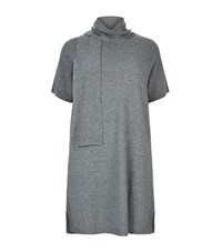 Marina Rinaldi Tie Neck Knitted Dress Female Dark Grey