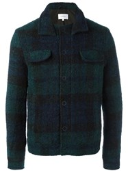 Carven 'Peacot Check' Jacket Black