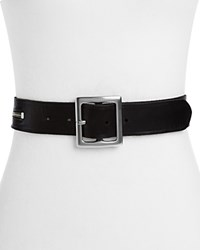 Paige Sabine Leather Belt Black