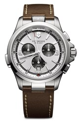 Men's Victorinox Swiss Army 'Night Vision' Chronograph Leather Strap Watch 43Mm
