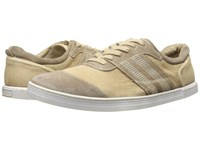 Bed Stu Catfish Tan Garment Dyed Suede Canvas Leather Men's Lace Up Casual Shoes Beige
