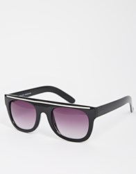 New Look Flattop Grandmaster Sunglasses Black
