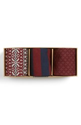 Men's The Tie Bar Burgundy Sock Style Box