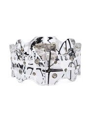 Christopher Kane Crystal Accent Bracelet Black