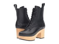 Swedish Hasbeens Lace Up Boot Black Women's Lace Up Boots
