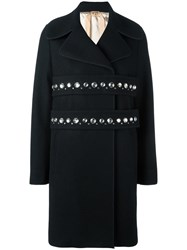N 21 No21 Studded Straps Oversized Coat Black
