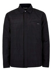 Topman Black Nicce Quilted Overshirt