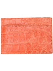 Santiago Gonzalez Stitched Cardholder Yellow And Orange