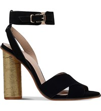 Kurt Geiger Talbot Suede Sandals Black
