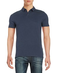 Selected Knit Cotton Polo Dark Sapphire