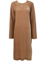 Nehera 'Dodo' Velvet Dress Brown
