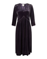 East Lace And Velvet Dress Purple