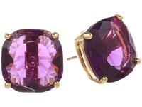 Kate Spade Small Square Studs Amethyst Earring Purple