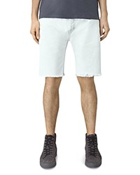 Allsaints Coping Switch Slim Fit Shorts Bleached Indigo Blue