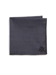 Hook Albert White And Navy Polka Dot Pocket Square