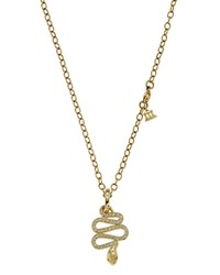 Temple St. Clair 18K Gold Slithering Serpent Pendant With Diamond Pave 0.485 Ct. T.W.