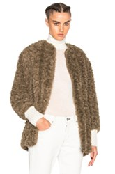 Etoile Isabel Marant Abril Easy Faux Fur Coat In Brown Neutrals Brown Neutrals