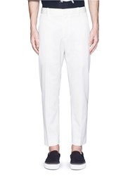 3.1 Phillip Lim Tapered Cotton Wool Twill Slim Pants White