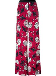 Twin Set Floral Print Palazzo Trousers Red