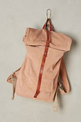 Anthropologie Mum's Rolled Backpack Pink