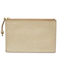 Fossil Small Pouch Taupe Metallic