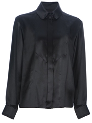 Chanel Vintage Silk Blouse Black