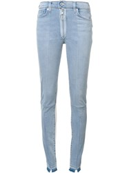 Off White Skinny Jeans Blue