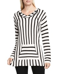Vince Camuto Ribbed Hooded Pullover White
