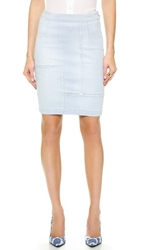 Frame Le High Pencil Panel Skirt Doheny
