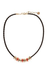 The Sak Braided Cord Charm Necklace Orange