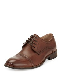 Rw Footwear Ethan Cap Toe Lace Up Oxford Tobacco