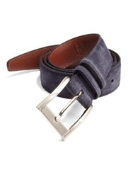 Saks Fifth Avenue Suede Belt Navy