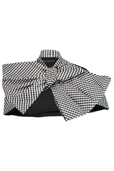 Marc By Marc Jacobs Bow Detailed Gingham Faille Cape Black