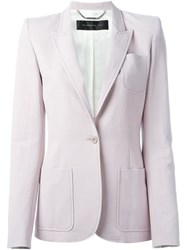 Barbara Bui Peaked Lapel Blazer Pink And Purple
