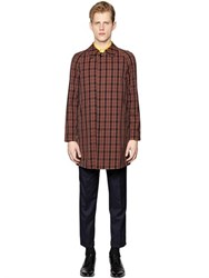 Massimo Piombo Waterproof Checked Cotton Car Coat