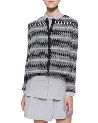 Thakoon Patterned Boxy Tweed Jacket