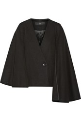 Tibi Quecha Felted Wool Blend Cape Black