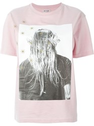 Palm Angels Photo Print T Shirt Pink And Purple