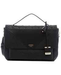Guess Cammie Top Handle Flap Crossbody Black
