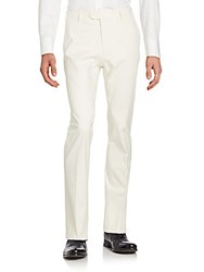 Loro Piana Solid High Rise Jeans White