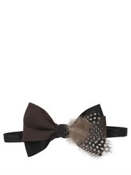Mani Del Sud Feather Embellished Bow Tie